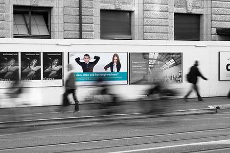 Aufnahme am Bahnhof SBB für Kampagne KV Basel
