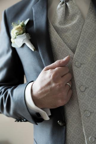 Detailaufnahme Bräutigam, Hochzeitsfotograf Basel