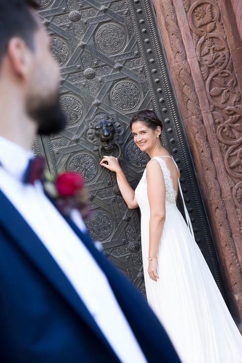 Braut klopft an Münster, Hochzeit Münster Basel