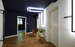 Eingangsbereich in Praxis, moderne Architkturfotografie in Basel