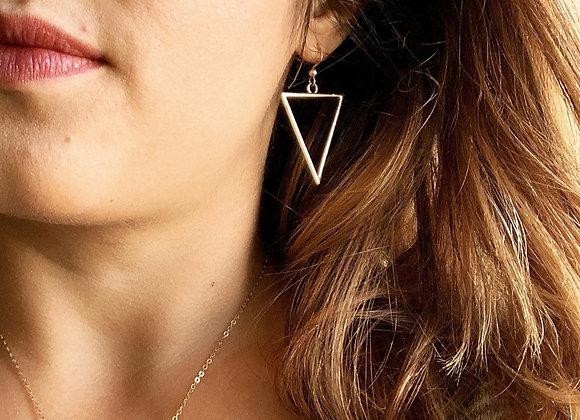 Hollow Triangle Earrings