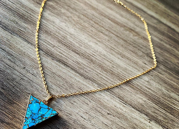 Chipped Turquoise Necklace