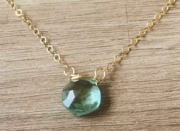 Aquamarine Briolette Necklace