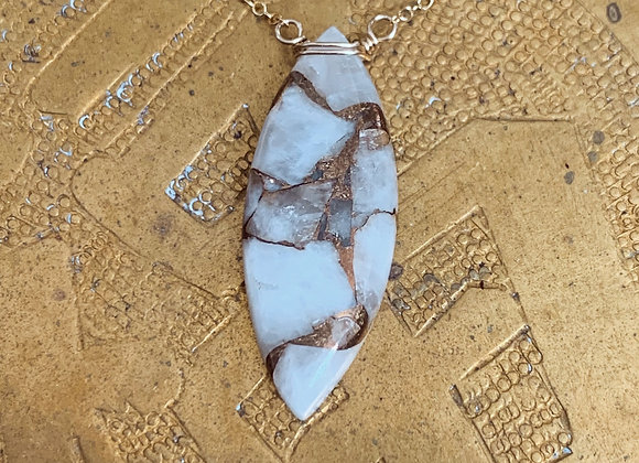 Copper Calcite Necklace
