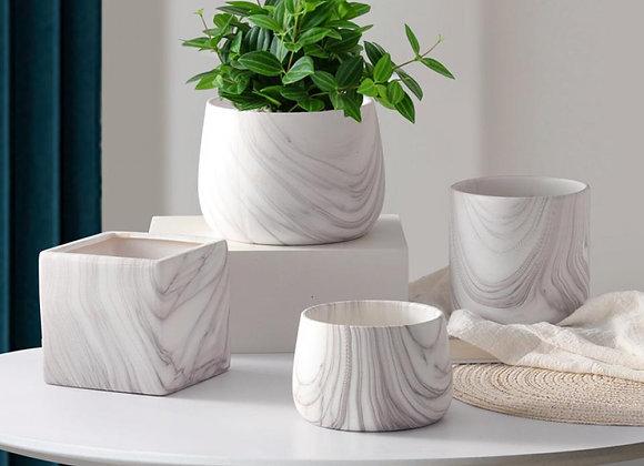 """""""Marble"""" Ceramic Pot"""