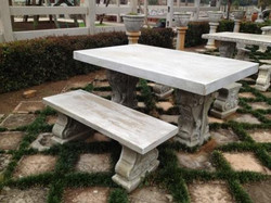 Leaf table set with Marinella bases