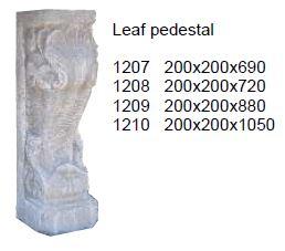 pedestal - leaf