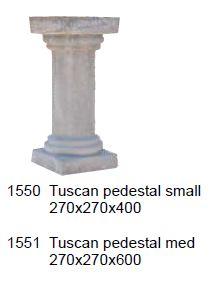 pedestal - tuscan