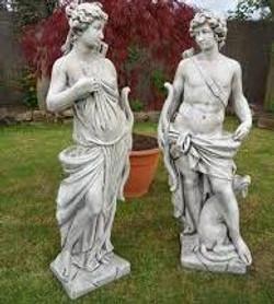 Artemis Statue (65) and Apollo Statue (64)