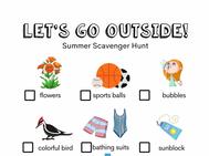 Summertime Outdoor Scavenger Hunt