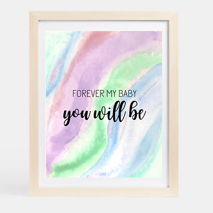 Wavy Watercolor with Quote Nursery Printable Download
