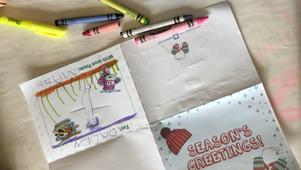 "Foldable ""Season's Greetings"" Card"
