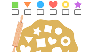 Cookie Cutter Shapes: Coloring Activity