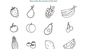 Add Up the Fruits: Counting (1-12)