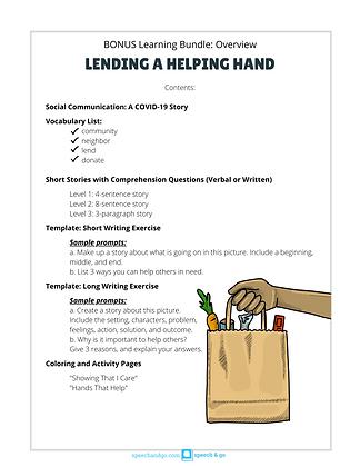 Digital Download: Lending a Helping Hand (Bonus Educational Bundle)