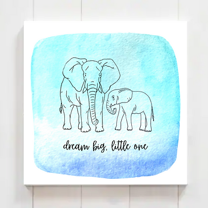 "Animal Nursery Printable ""Dream Big, Little One"" Watercolor, Set 2 (5 Prints)"