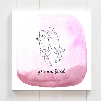 "Animal Nursery Printable ""You Are Loved"" Watercolor, Set 2 (5 Prints)"
