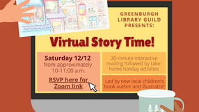Virtual Reading Hosted by the Greenburgh Library Guild: Flyer and Activities