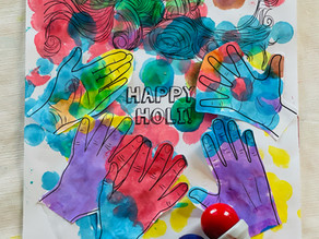 Happy Holi! Cut-and-Paste Card & Activities