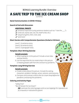 Digital Download: A Safe Trip to the Ice Cream Shop (Bonus Educational Bundle)