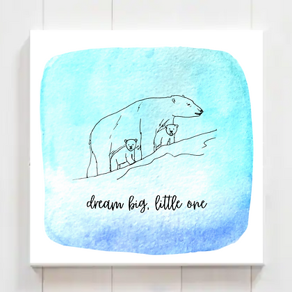"Animal Nursery Printable ""Dream Big, Little One"" Watercolor, Set 1 (5 Prints)"