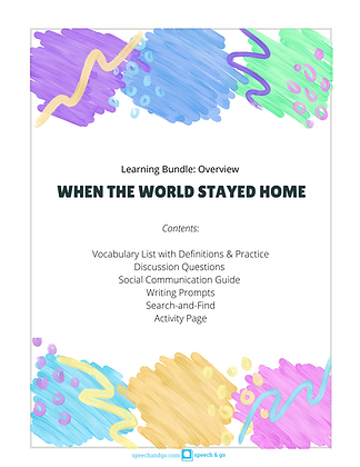 Digital Download: When the World Stayed Home Educational Bundle