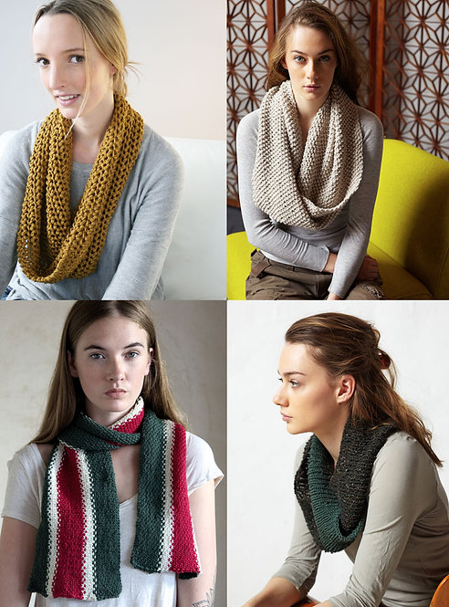 420 Four Classic Scarves - Digital Pattern Offer