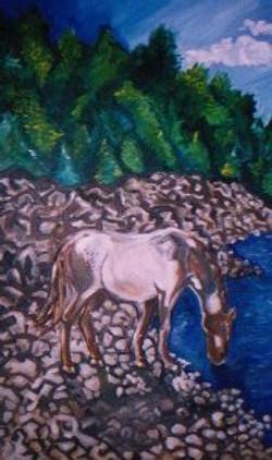 Drinking Horse