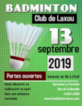 Copie de Green Badminton flyer Template