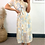 Thumbnail: Multi Colour Collared Short Sleeve Maxi Dress With Gold Chrome Button Detail