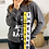 Thumbnail: Grey Crew Neck Sweatshirt With Printed Ribbon Detail