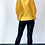 Thumbnail: Mustard Blouse With Batwing Sleeves