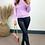 Thumbnail: Lilac Long Sleeve Double Zip Cardigan