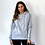 Thumbnail: Grey Plain Hoodie With Pouch Pocket