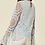 Thumbnail: Baby Blue Crotchet Long Sleeve Top With Fluted Sleeve