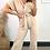 Thumbnail: Beige V Neck Short Sleeve Jumpsuit With Belt Fastening