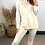 Thumbnail: PREMIUM Cream 3 Piece Set With Cable Knit Vest, Cream Joggers And White Shirt