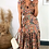 Thumbnail: Multi Colour Paisley Wrap Over Maxi Dress With Short Frill Sleeve & Belt Detail