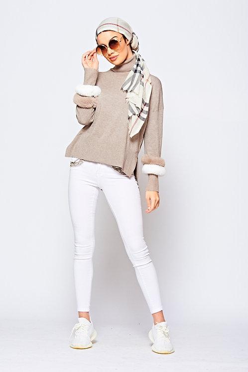 White Jewel Embellished Stretch Skinny Jean