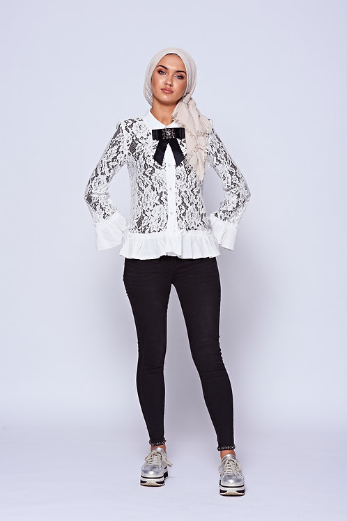 Black Stretch Skinny Jeans With Diamonte Embellishment