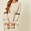 Thumbnail: Beige Maxi Dress With Belt Fastening, Fluted Sleeve And Applique Detailed Trims