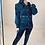 Thumbnail: Black Exaggerated Shoulder Denim Jacket With Detachable Mini Belt Bag