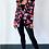 Thumbnail: Black Floral Puff Shoulder Blazer