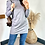 Thumbnail: Grey Knitted Fine Gauge Long Sleeve Top With Ribbed High Neck and Cuffs