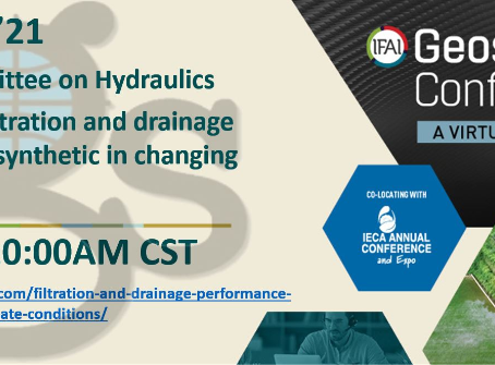 Filtration, drainage and climate change at Geosynthetics'21, on Thursday 25!