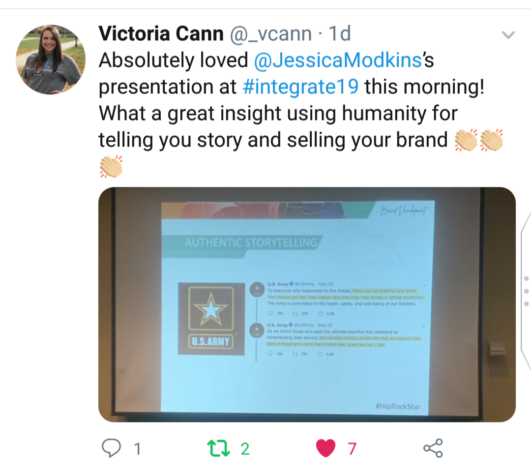 Loved Jessica's presentation!