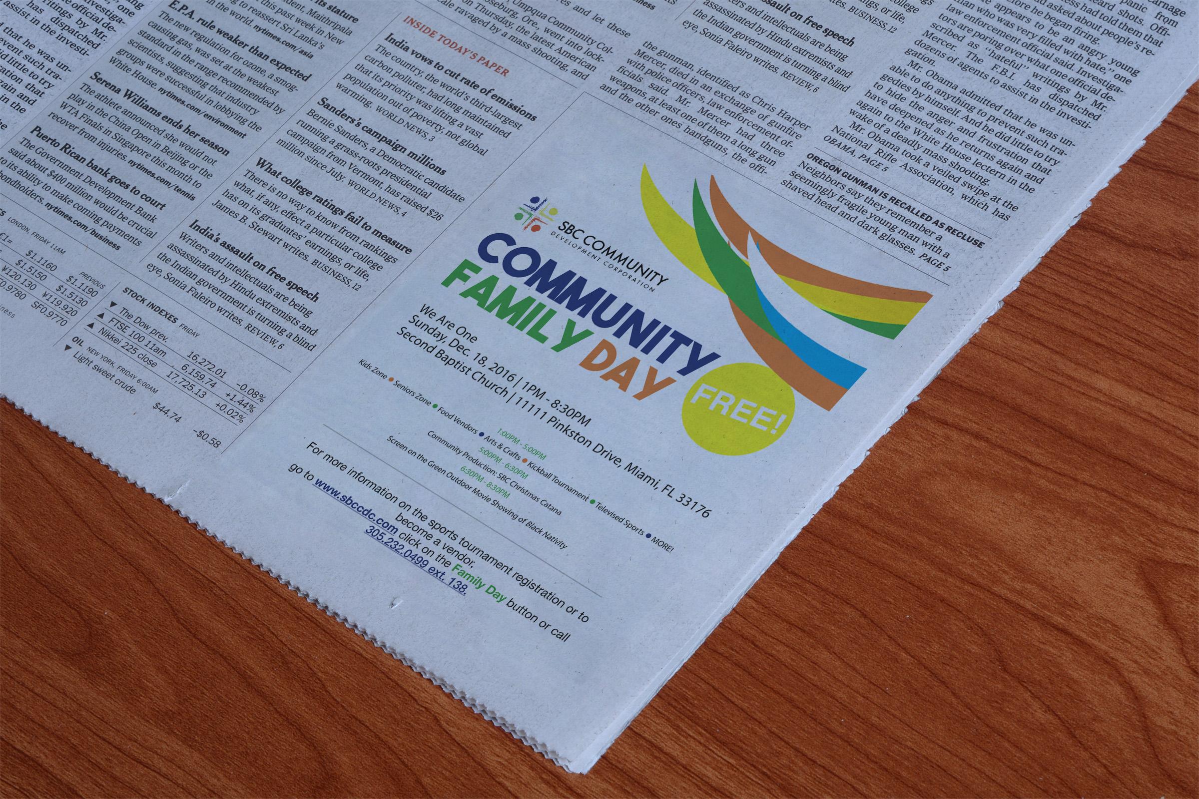 Community Family Day Mockup