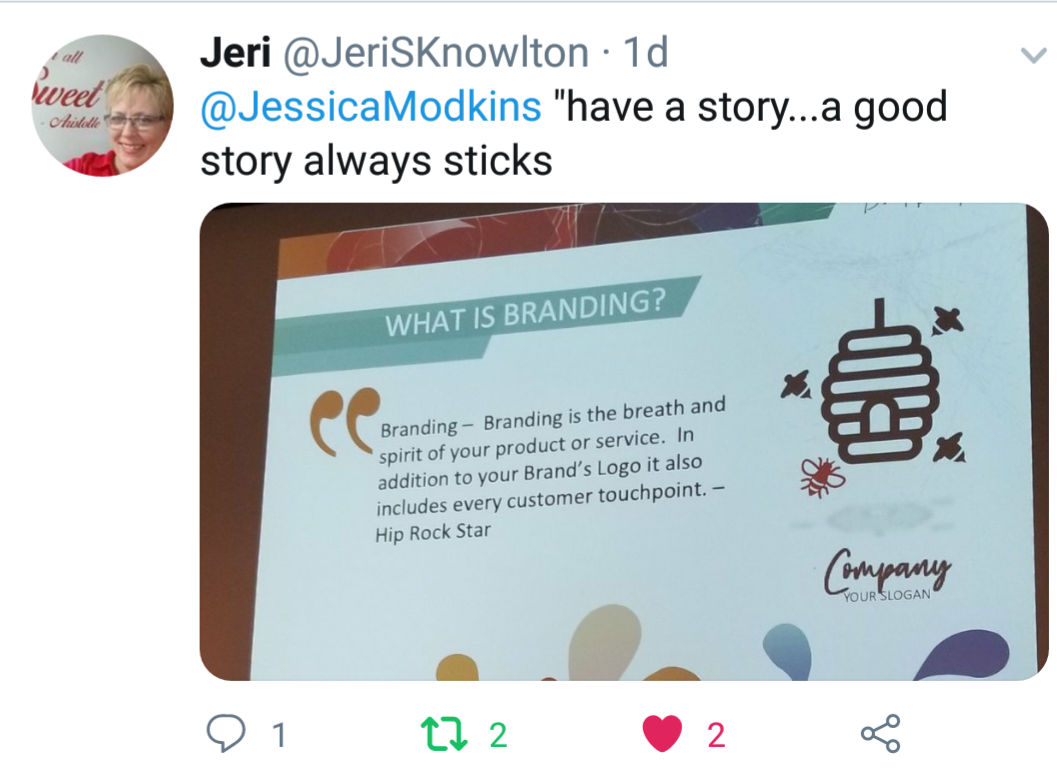 A good story always sticks.