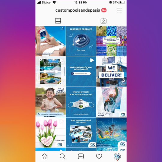 Custom Pools Instagram Feed