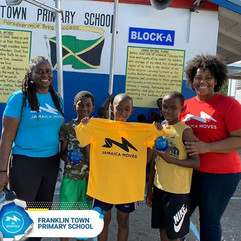 Jamaica Moves road tour at primary schools with Ms. Zoey Wellington, Health Education Officer, Kingston and St. Andrew Health Department